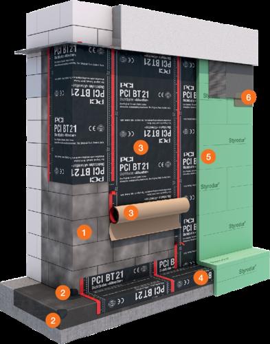 System Bauwerksabdichtung PCI BT 21