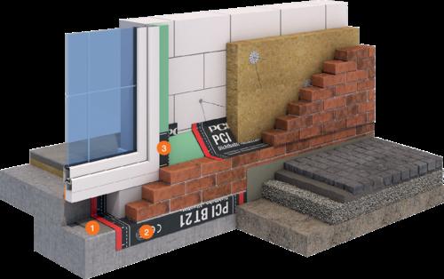 System Bauwerksabdichtung zweischaliges Mauerwerk