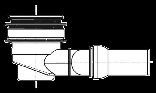 PCI Pecibord® Bodenablauf W (vloerafvoer horizontaal)